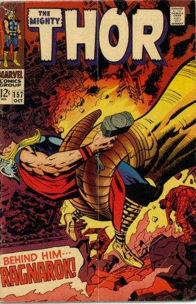 Thor #157 comic books - cover scans photos Thor #157 comic books - covers, picture gallery