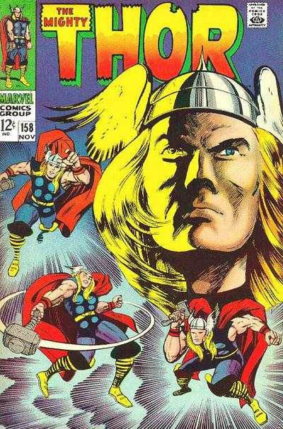 Thor #158 comic books - cover scans photos Thor #158 comic books - covers, picture gallery