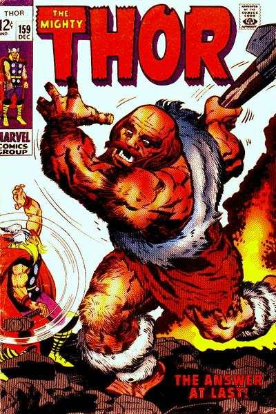 Thor #159 comic books - cover scans photos Thor #159 comic books - covers, picture gallery