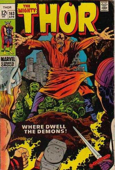 Thor #163 Comic Books - Covers, Scans, Photos  in Thor Comic Books - Covers, Scans, Gallery