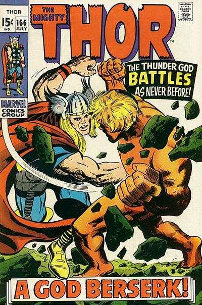 Thor #166 comic books - cover scans photos Thor #166 comic books - covers, picture gallery