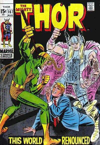 Thor #167 comic books - cover scans photos Thor #167 comic books - covers, picture gallery