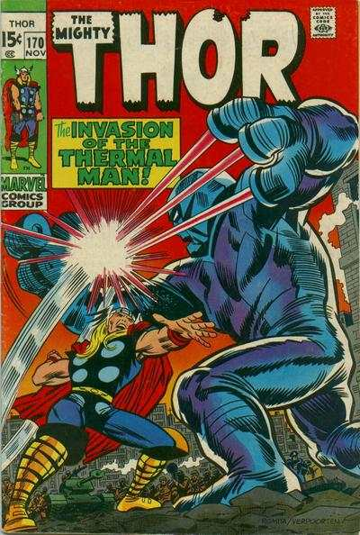 Thor #170 comic books - cover scans photos Thor #170 comic books - covers, picture gallery