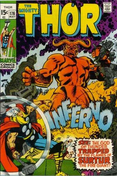 Thor #176 comic books - cover scans photos Thor #176 comic books - covers, picture gallery