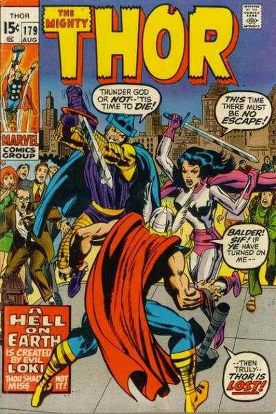 Thor #179 comic books - cover scans photos Thor #179 comic books - covers, picture gallery