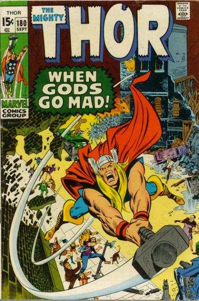 Thor #180 comic books - cover scans photos Thor #180 comic books - covers, picture gallery