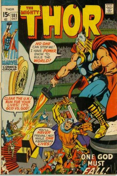 Thor #181 cheap bargain discounted comic books Thor #181 comic books