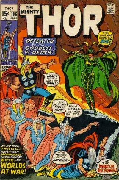 Thor #186 comic books - cover scans photos Thor #186 comic books - covers, picture gallery
