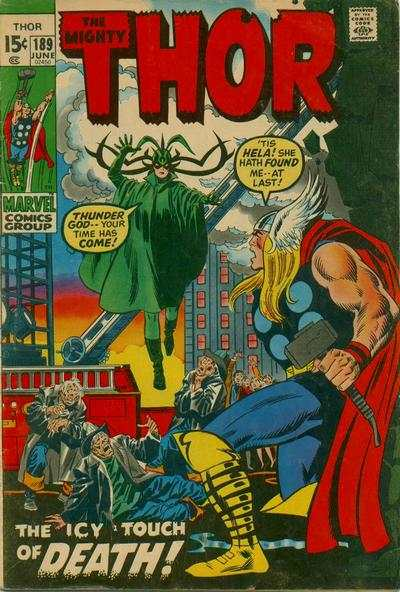 Thor #189 comic books - cover scans photos Thor #189 comic books - covers, picture gallery