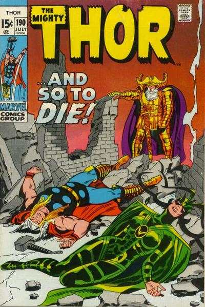 Thor #190 comic books - cover scans photos Thor #190 comic books - covers, picture gallery