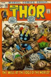 Thor #195 comic books - cover scans photos Thor #195 comic books - covers, picture gallery