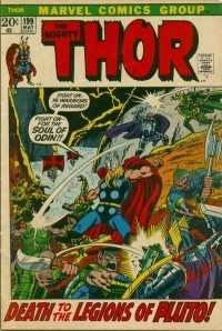 Thor #199 comic books - cover scans photos Thor #199 comic books - covers, picture gallery