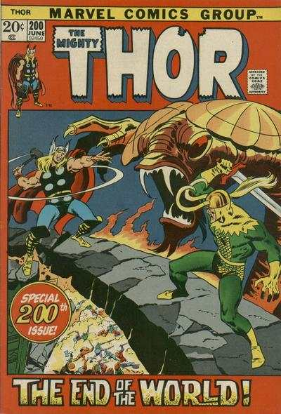 Thor #200 comic books - cover scans photos Thor #200 comic books - covers, picture gallery