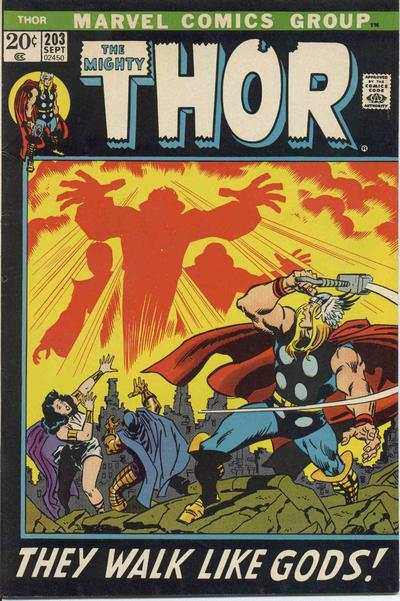 Thor #203 comic books - cover scans photos Thor #203 comic books - covers, picture gallery