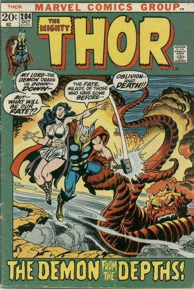 Thor #204 comic books - cover scans photos Thor #204 comic books - covers, picture gallery