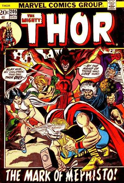 Thor #205 comic books - cover scans photos Thor #205 comic books - covers, picture gallery