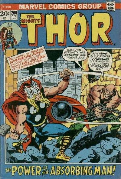 Thor #206 Comic Books - Covers, Scans, Photos  in Thor Comic Books - Covers, Scans, Gallery