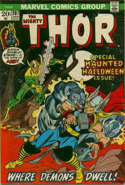 Thor #207 comic books - cover scans photos Thor #207 comic books - covers, picture gallery