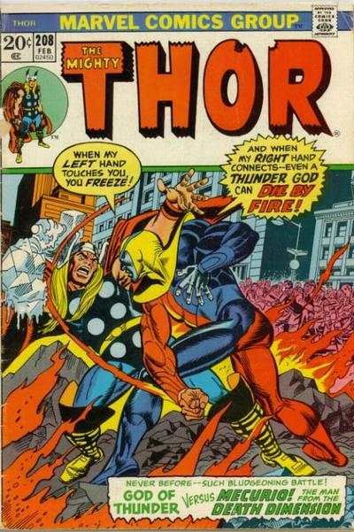 Thor #208 comic books - cover scans photos Thor #208 comic books - covers, picture gallery