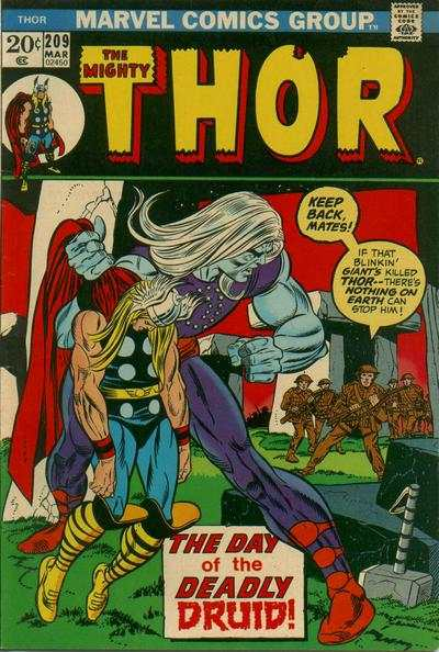 Thor #209 comic books - cover scans photos Thor #209 comic books - covers, picture gallery