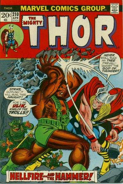 Thor #210 comic books - cover scans photos Thor #210 comic books - covers, picture gallery