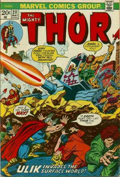 Thor #211 comic books - cover scans photos Thor #211 comic books - covers, picture gallery