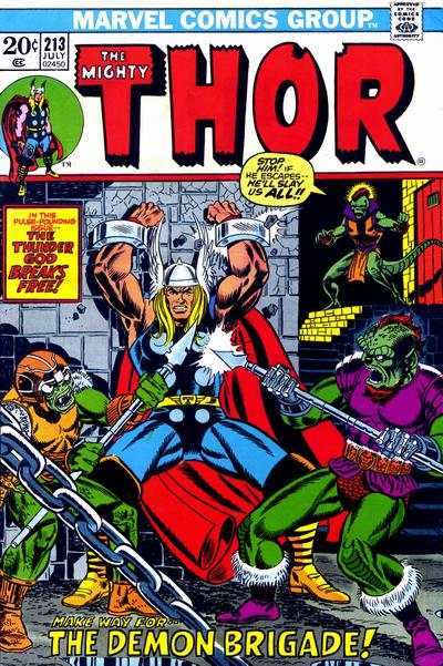 Thor #213 comic books - cover scans photos Thor #213 comic books - covers, picture gallery