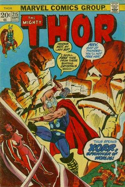Thor #215 cheap bargain discounted comic books Thor #215 comic books