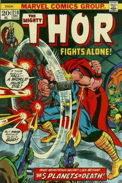 Thor #218 comic books - cover scans photos Thor #218 comic books - covers, picture gallery