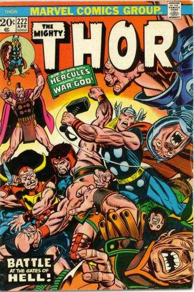Thor #222 comic books - cover scans photos Thor #222 comic books - covers, picture gallery