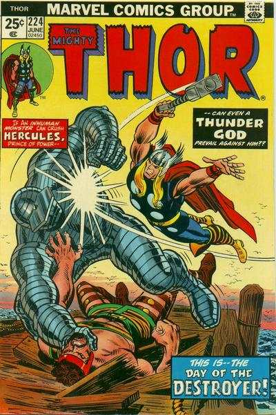 Thor #224 comic books - cover scans photos Thor #224 comic books - covers, picture gallery