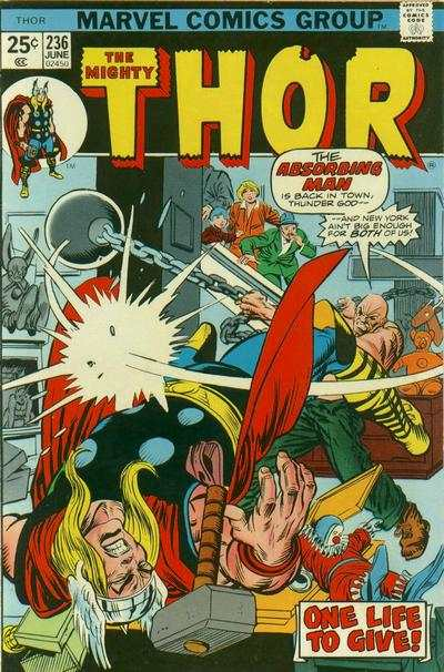Thor #236 comic books - cover scans photos Thor #236 comic books - covers, picture gallery