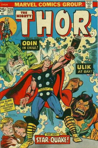 Thor #239 comic books - cover scans photos Thor #239 comic books - covers, picture gallery