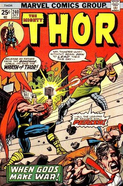Thor #240 comic books - cover scans photos Thor #240 comic books - covers, picture gallery