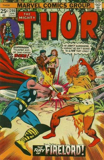 Thor #246 comic books - cover scans photos Thor #246 comic books - covers, picture gallery