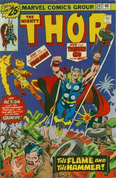 Thor #247 comic books - cover scans photos Thor #247 comic books - covers, picture gallery