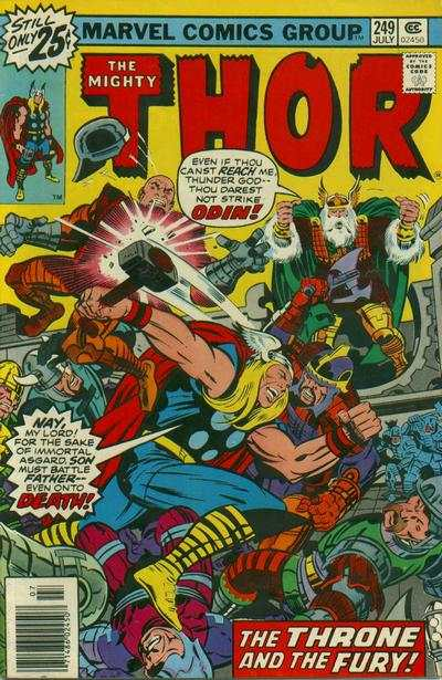 Thor #249 comic books - cover scans photos Thor #249 comic books - covers, picture gallery