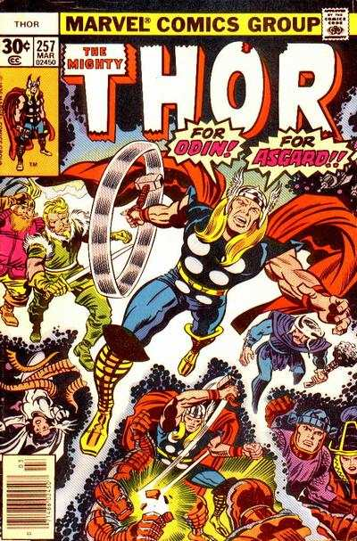 Thor #257 comic books - cover scans photos Thor #257 comic books - covers, picture gallery