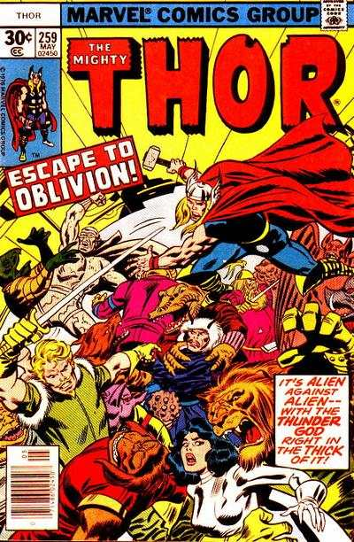 Thor #259 comic books - cover scans photos Thor #259 comic books - covers, picture gallery