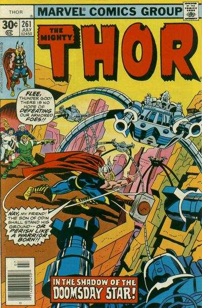 Thor #261 comic books - cover scans photos Thor #261 comic books - covers, picture gallery