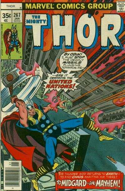 Thor #267 comic books - cover scans photos Thor #267 comic books - covers, picture gallery