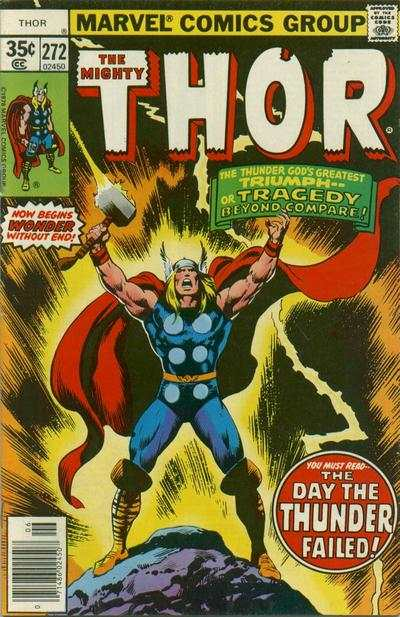 Thor #272 comic books - cover scans photos Thor #272 comic books - covers, picture gallery