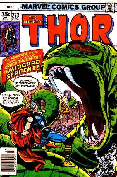 Thor #273 comic books - cover scans photos Thor #273 comic books - covers, picture gallery