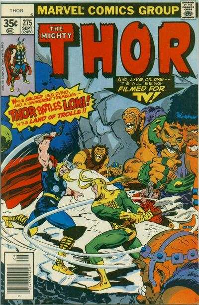 Thor #275 comic books - cover scans photos Thor #275 comic books - covers, picture gallery