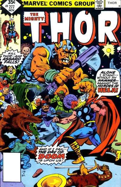 Thor #277 comic books - cover scans photos Thor #277 comic books - covers, picture gallery
