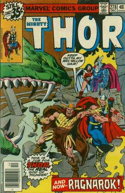 Thor #278 cheap bargain discounted comic books Thor #278 comic books
