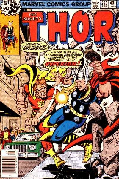 Thor #280 comic books - cover scans photos Thor #280 comic books - covers, picture gallery