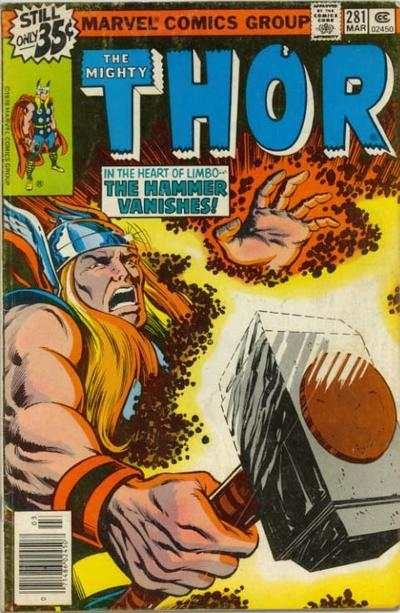 Thor #281 comic books - cover scans photos Thor #281 comic books - covers, picture gallery