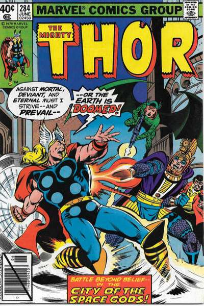 Thor #284 comic books - cover scans photos Thor #284 comic books - covers, picture gallery