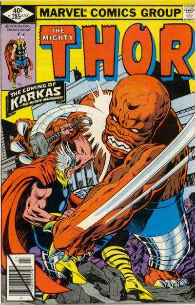 Thor #285 comic books - cover scans photos Thor #285 comic books - covers, picture gallery